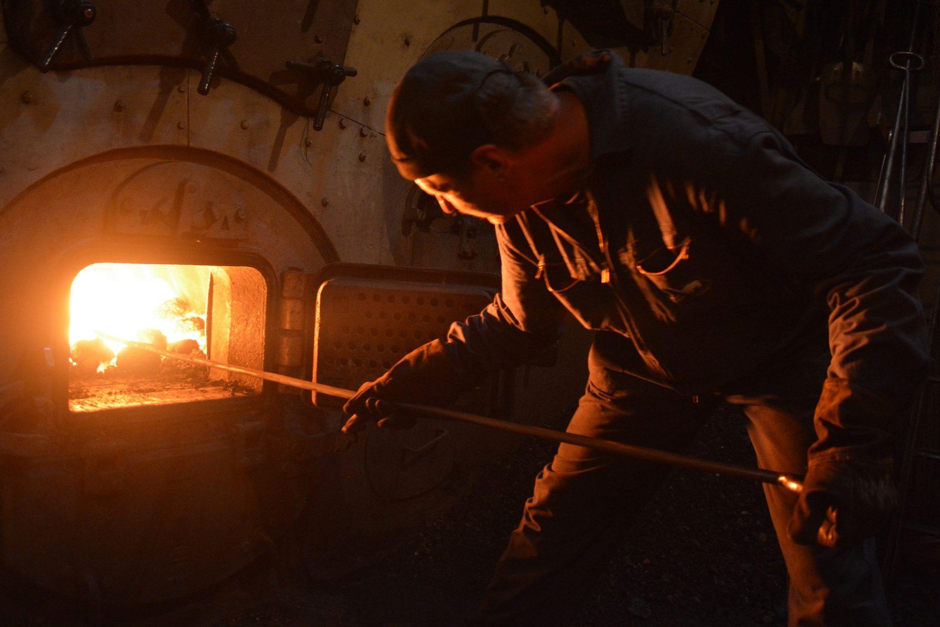 Dampfmaschine Feuer